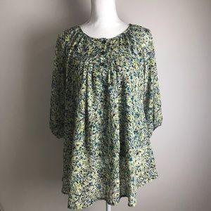 Burette Club - green floral blouse